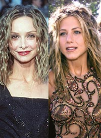 Calista Flockhart and Jennifer Aniston Best and Worst '90s Hair