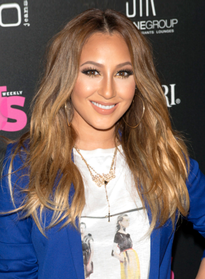 Adrienne Bailon's Long, Wavy, Tousled, Brunette Hairstyle