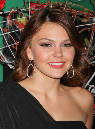 Aimee Teegarden Curly, Chic, Brunette Hairstyle