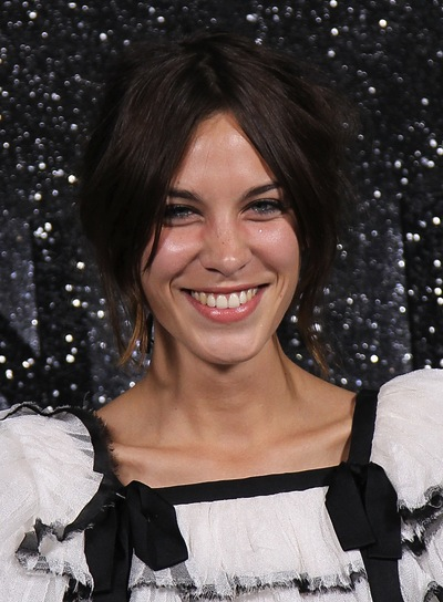 Alexa Chung Chic, Sophisticated, Brunette Updo