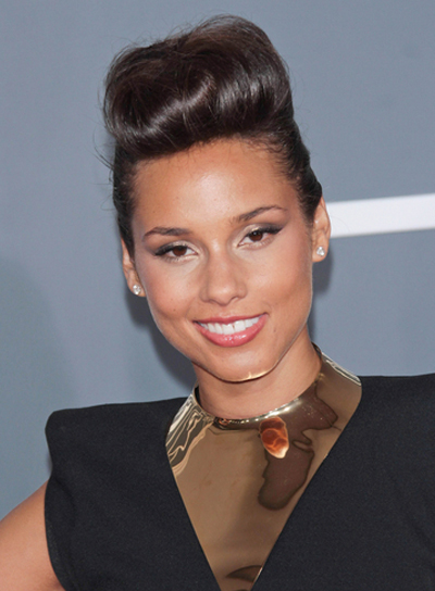 Alicia Keys Chic, Edgy, Funky, Black, Party Updo