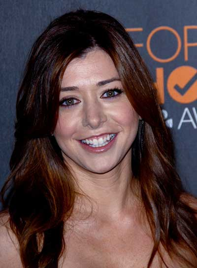 Alyson Hannigan Long, Straight, Sophisticated, Red Hairstyle