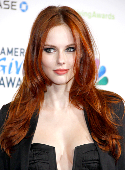 Alyssa Campanella's Long, Red, Tousled, Sexy Hairstyle
