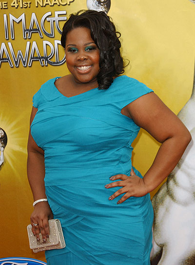 Amber Riley Chic, Curly, Black Hairstyle