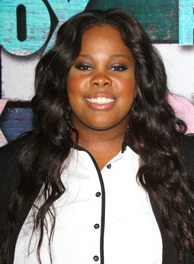 Amber Riley's Long, Black, Wavy, Party Hairstyle