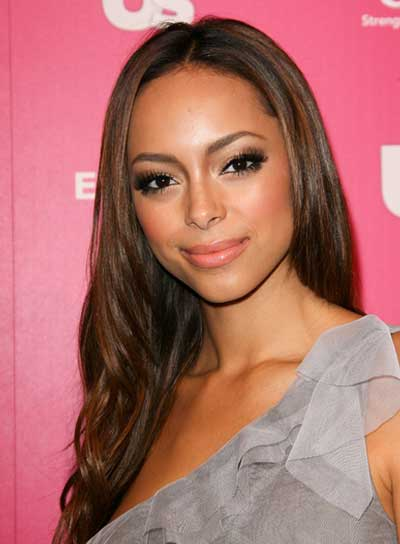 Amber Stevens Long, Layered, Romantic, Brunette Hairstyle