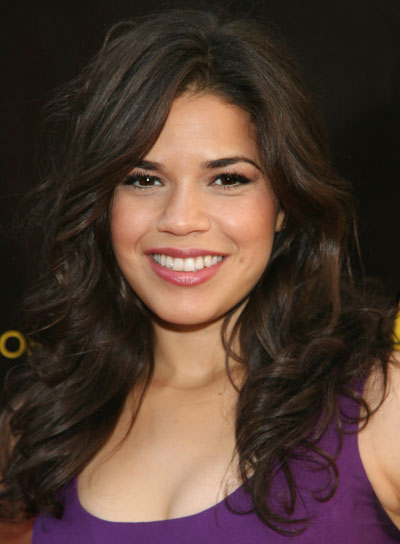 America Ferrera Thick, Curly, Brunette Hairstyle