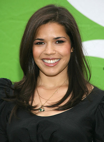 America Ferrera Medium, Layered, Straight Hairstyle