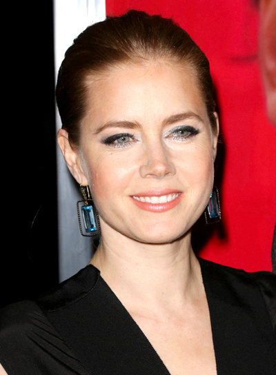 Amy Adams' Sophisticated, Red, Chic Ponytail Hairstyle