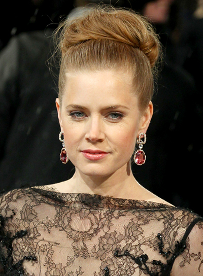 Amy Adams' Blonde, Sophisticated, Romantic, Updo Hairstyle