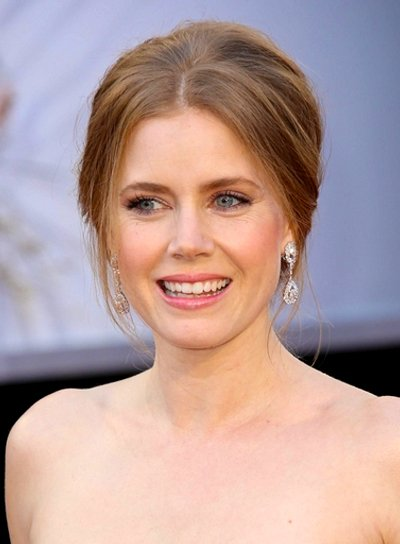 Amy Adams' Brunette, Chic, Romantic, Updo Hairstyle