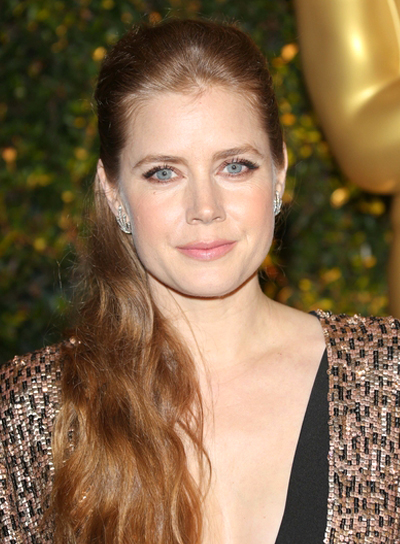 Amy Adams' Long, Wavy, Red, Ponytail Hairstyle