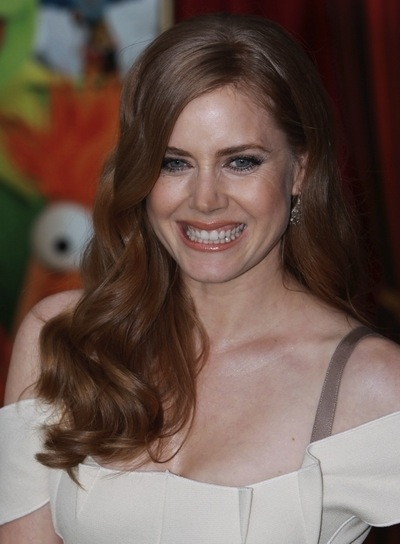 Amy Adams Long, Wavy, Thick, Romantic, Red Hairstyle