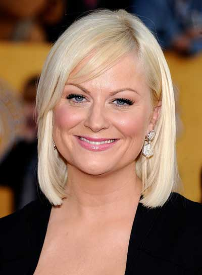 Amy Poehler Short, Straight, Blonde Bob with Bangs