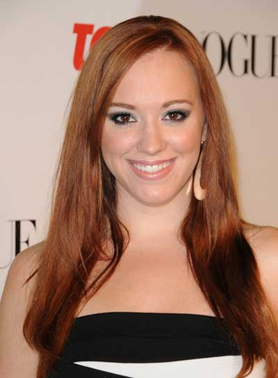 Andrea Bowen Long, Straight, Romantic, Red Hairstyle