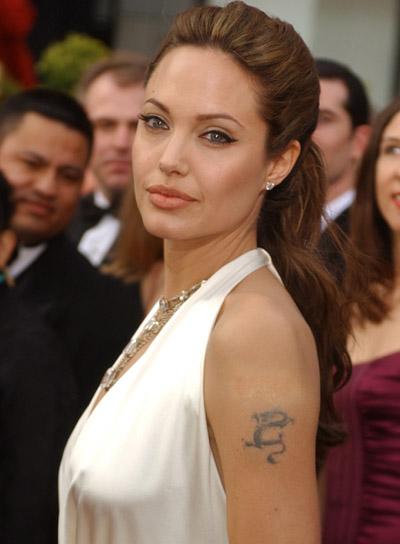 Angelina Jolie Wavy Half Updo