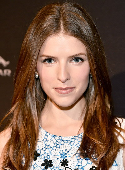 Anna Kendrick with a Long, Red, Straight, Chic Hairstyle Pictures