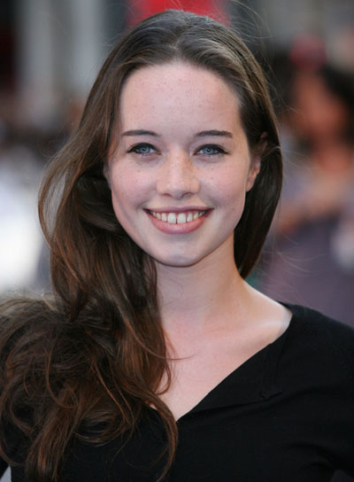Anna Popplewell Long, Tousled, Sexy, Brunette Hairstyle