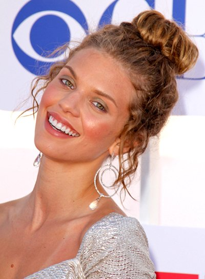 AnnaLynne McCord's Curly, Chic, Romantic, Updo Hairstyle