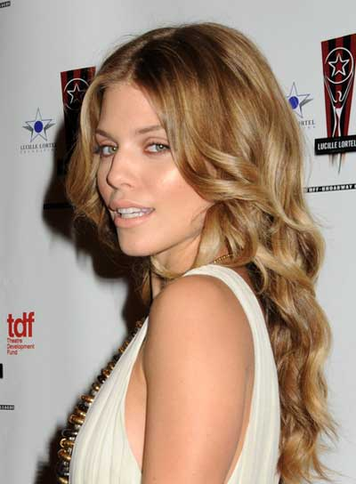 AnnaLynne McCord Long, Curly, Blonde Hairstyle