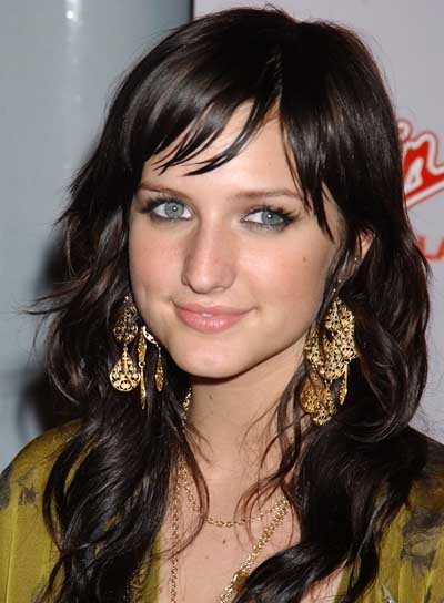 Ashlee Simpson Long Shag with Bangs
