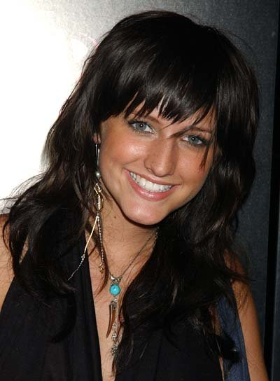 Ashlee Simpson Long, Wavy Shag Hairstyle