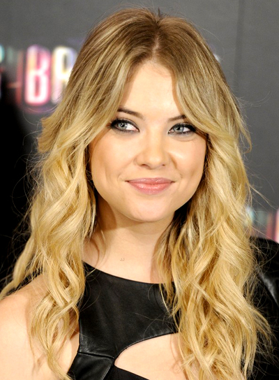 Ashley Benson's Long, Blonde, Party, Wavy Hairstyle