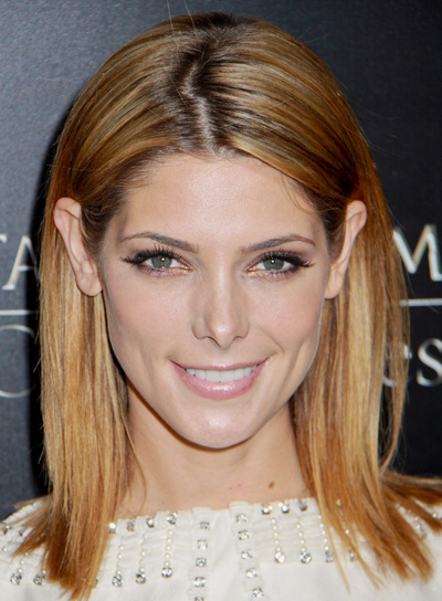Ashley Greene's Straight, Blonde, Medium, Sexy Hairstyle