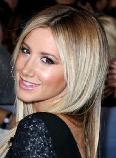 Ashley Tisdale's Long, Blonde, Straight, Chic, Hairstyle