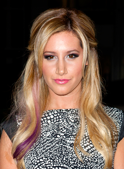 Ashley Tisdale's Wavy, Blonde, Sophisticated, Long Hairstyle