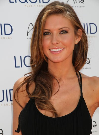 Audrina Patridge Sexy, Curly, Brunette Hairstyle