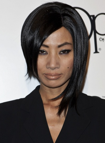 Bai Ling Straight, Funky, Edgy, Black Hairstyle