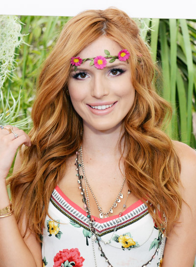 Bella Thorne with a Long, Red, Wavy, Tousled Hairstyle Pictures