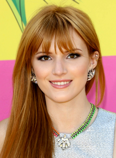 Bella Thorne's Long, Straight, Chic Hairstyle with Bangs