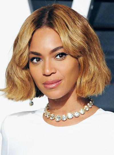 Beyonce Knowles Medium, Blunt, Blonde, Bob Hairstyle