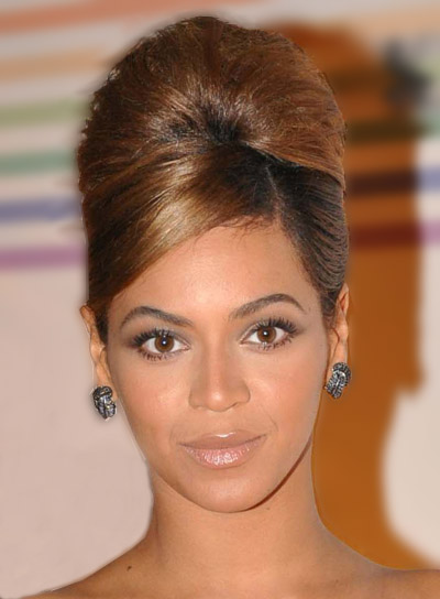 Beyonce Knowles Chic Updo