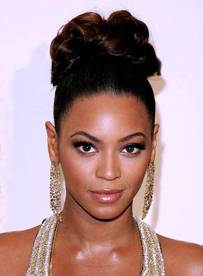Beyonce Knowles Prom Updo