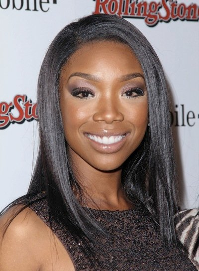 Brandy Medium, Straight, Sophisticated Hairstyle