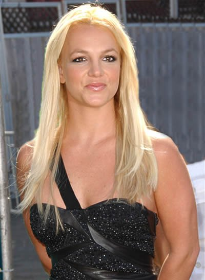 Britney Spears Long, Blonde Hairstyle