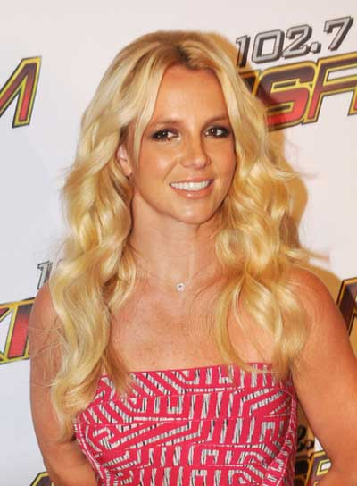 Britney Spears Long, Wavy, Blonde Hairstyle