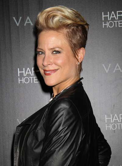 Brittany Daniel Short, Straight, Funky, Edgy, Blonde Updo