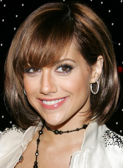 Brittany Murphy Bob Hairstyle with Bangs
