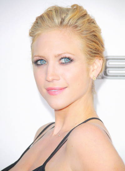 Brittany Snow's Blonde, Chic, Sophisticated, Updo Hairstyle