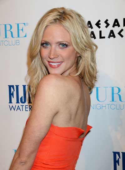 Brittany Snow Medium, Tousled, Curly, Sexy, Blonde Hairstyle