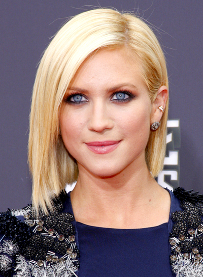 Brittany Snow's Straight, Blonde, Edgy, Party Hairstyle