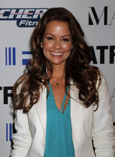 Brooke Burke Long, Curly, Brunette Hairstyle