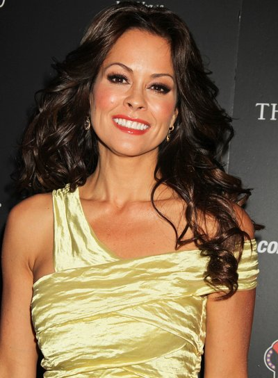 Brooke Burke Long, Curly, Sexy, Sophisticated, Party, Brunette Hairstyle