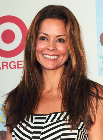 Brooke Burke's Long, Straight, Brunette, Tousled Hairstyle