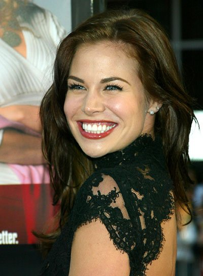 Brooke Burns Brunette, Tousled Hairstyle