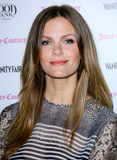 Brooklyn Decker's Brunette, Long, Straight, Tousled Hairstyle